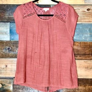 Mine | short sleeve crochet top